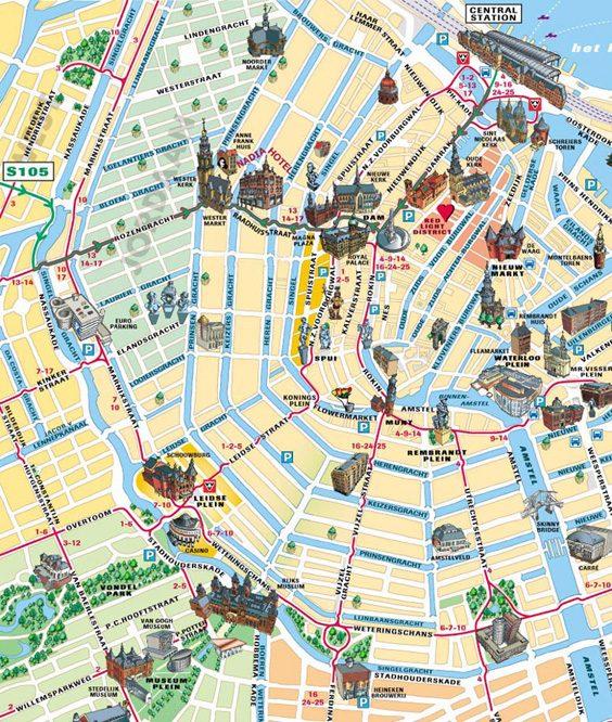 Amsterdam simple map